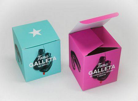Caja de cartón para galletas