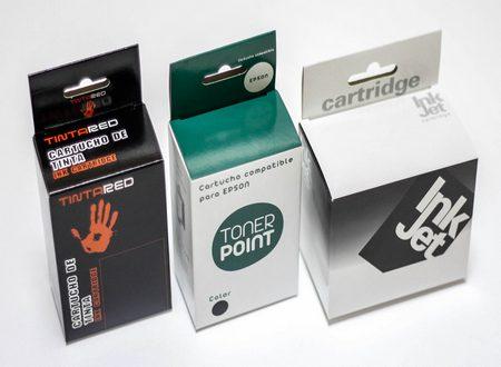 Cajas de cartón. Packaging: Cajitas y Estuches de cartón, cajas toner
