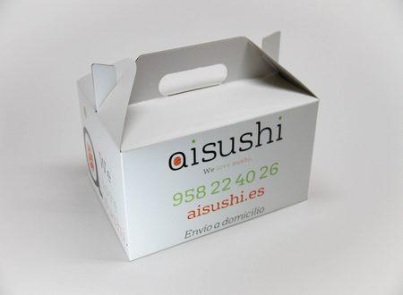 Caja cartón. Packaging: Cajas de cartón. Estuches de cartón. caja sushi
