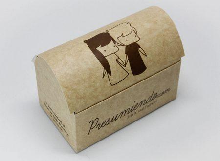 Caja BAUL. cartón. Packaging: Cajas de cartón. Estuches de cartón. caja baúl