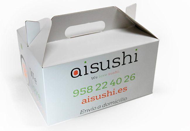 Cajas Sushi cartón. Packaging: Cajas de cartón. Estuches de cartón. caja sushi