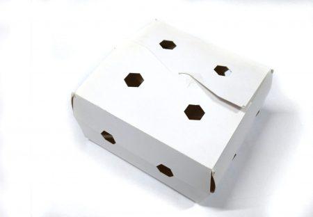 Bandejas y cajas de cartón apilables